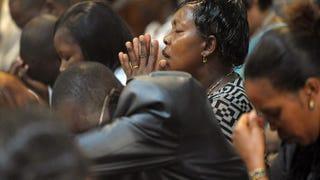 Worshipers pray at the All Saints Cathedral in KenyaTony Karumba/AFP/Getty Images