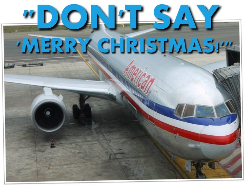 """Illustration for article titled Offended Passenger Kicked Off Plane For Tantrum Over """"Merry Christmas"""""""