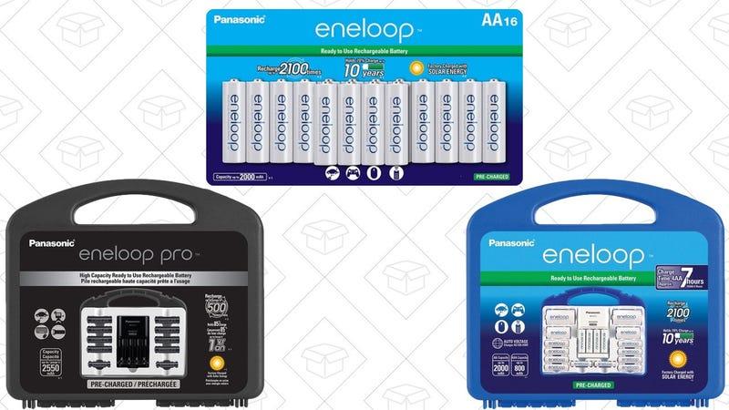 Pack de 16 pilas Eneloop AA | $25 | AmazonEneloop Pro Power Pack | $35 | AmazonEneloop Power Pack | $35 | AmazonGráfico: Shep McAllister