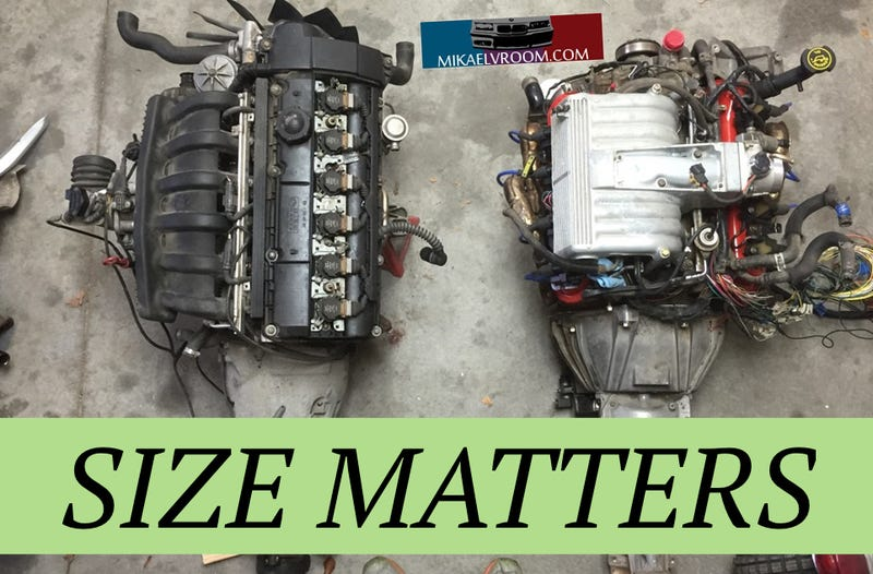 BMW E36 V8 Swap Part 8: Engine Size Comparison -and-