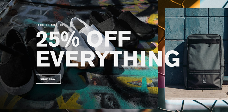 25% off Everything | Chrome Industries