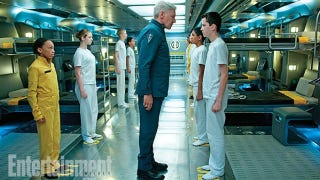 Illustration for article titled First Look at Harrison Ford's Wrathful Colonel Graff in Ender's Game