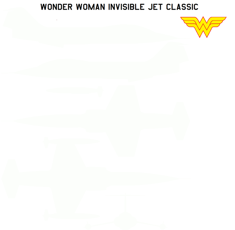 Illustration for article titled Wonder Woman's Invisible Jet design