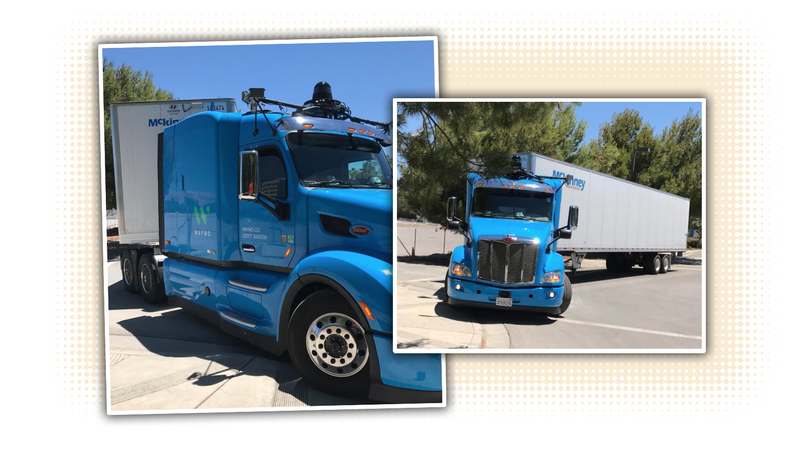 Illustration for article titled Here's The First Look At Google's Self-Driving Semi Trucks