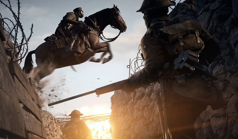 Illustration for article titled Battlefield 1's Horses Are Unstoppable Killing Machines