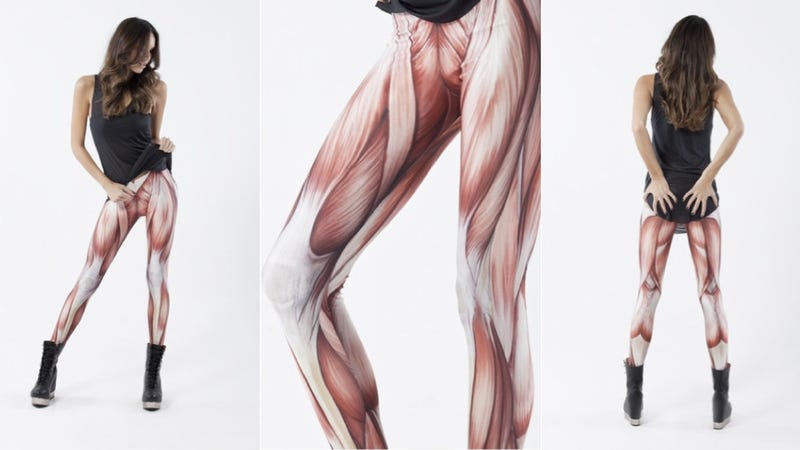 Illustration for article titled Leggings are boring — try a pair of meat pants on for size