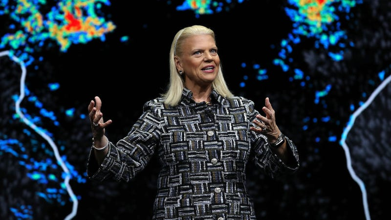 The CEO of IBM Ginni Rometty at CES on January 8, 2019