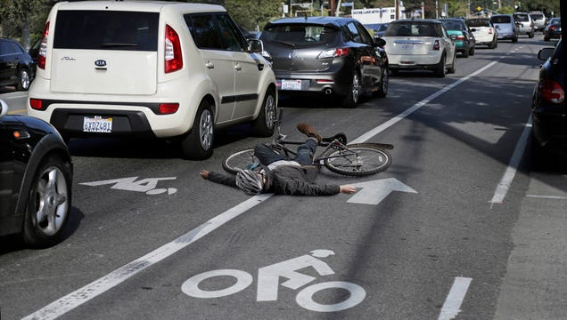 L.A. Adds Lanes For Cyclists To Recover From Getting Hit By Cars
