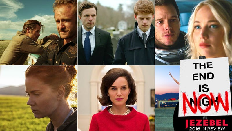 Clockwise from top left: Hell or High Water (CBS Films), Manchester by the Sea (Amazon), Passengers (Columbia), La La Land (Lionsgate), Jackie (Fox Searchlight), Arrival (Paramount). Images via their respective studios.