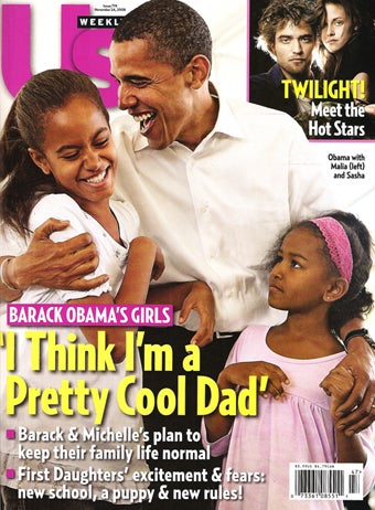 Illustration for article titled This Week In Tabloids: Brad's Trapped, Jen's Devastated, Obamas Are Just Like Us