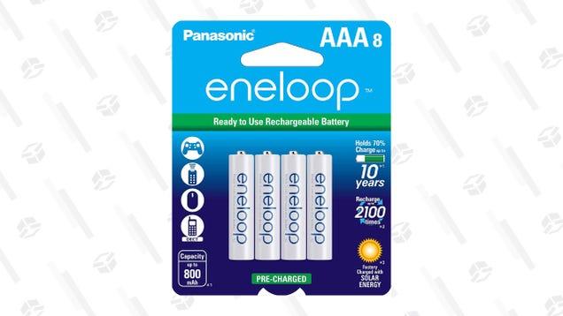 Grab Eight AAA Panasonic Eneloop Batteries for $14
