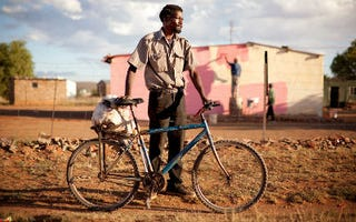 Sjoo, a featured bicyclist (Courtesy of Engelbrecht and Grobler, via Co.Design)