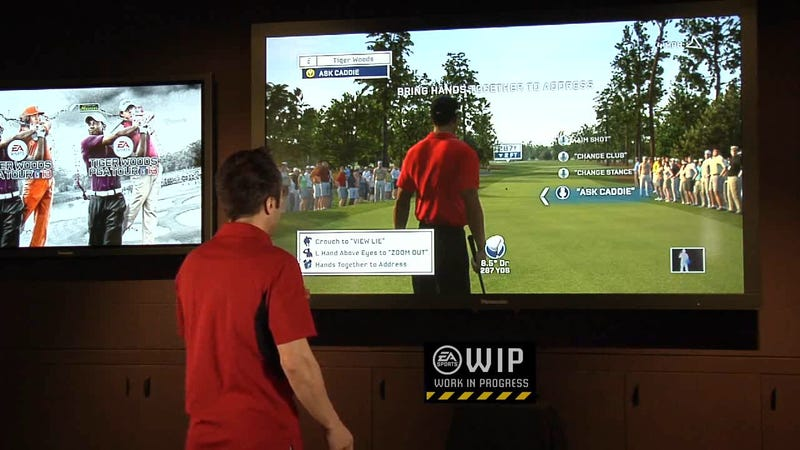 Illustration for article titled Turn and Face the Camera when Tiger Woods PGA Tour's Kinect Update Arrives