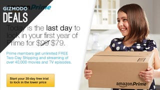 Illustration for article titled Today's Your Last Chance to Get Amazon Prime for $79