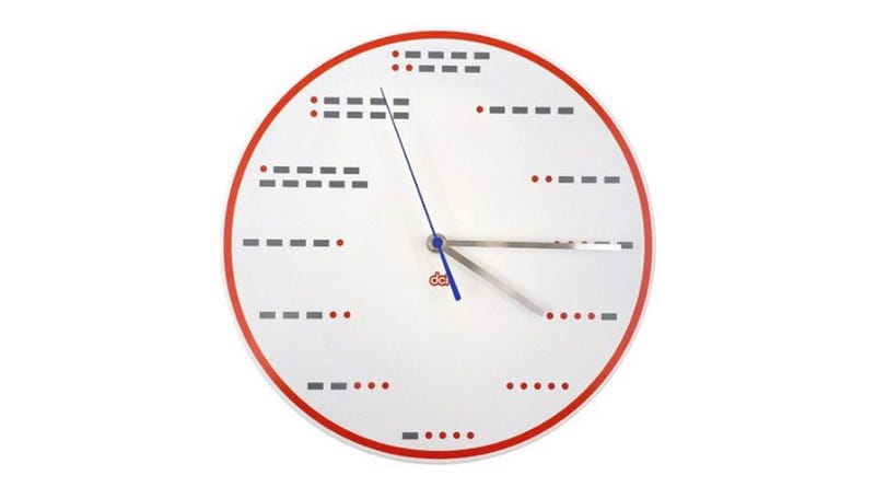 Illustration for article titled A Morse Code Clock Makes Everything Seem More Official