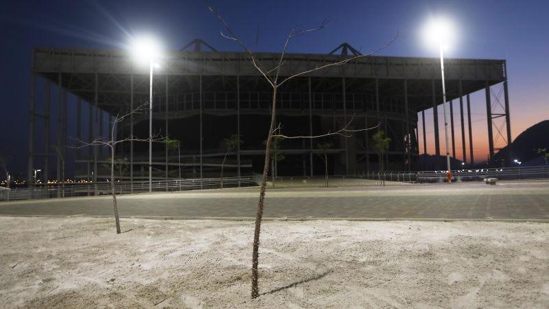 El estadio acuático abandonado en el Parque Olímpico (Foto: Getty).