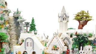 Illustration for article titled Rivendell from Lord of the Rings, made out of 50,000-plus LEGO bricks