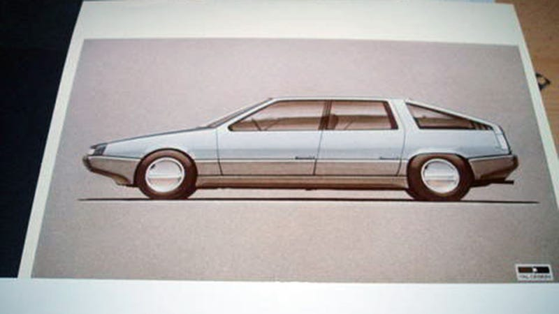 Illustration for article titled The Proposed DeLorean Sedan Is As Coke-Tastically '80s As You'd Imagine