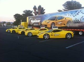 Illustration for article titled Top Gear Brings Lambo, Ferrari Supercabs To SEMA