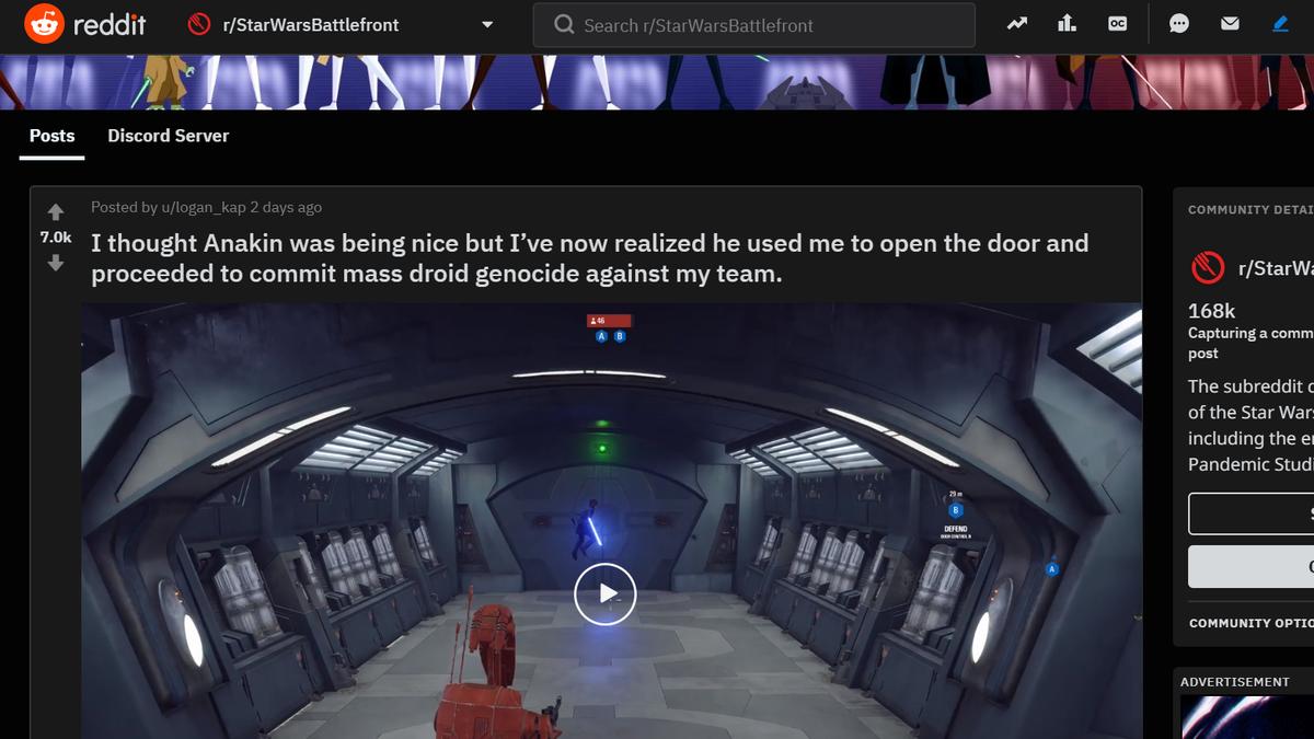 Star Wars Battlefront II Players On Opposite Teams Work Together For