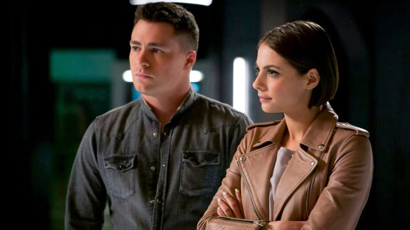 Colton Haynes and Willa Holland on Arrow.