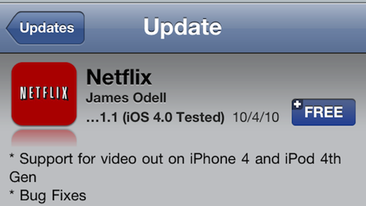 Netflix iPhone App Now Supports Video Out