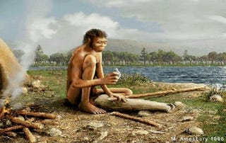 Illustration for article titled Ancient Proto-Humans Traveled to Europe In Boats 130,000 Years Ago