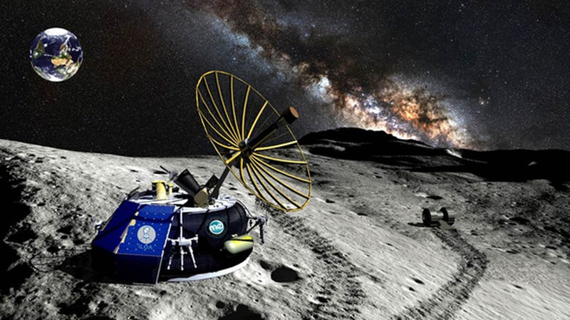 Illustration for article titled Moon Lander Launch Plans from a Private Company