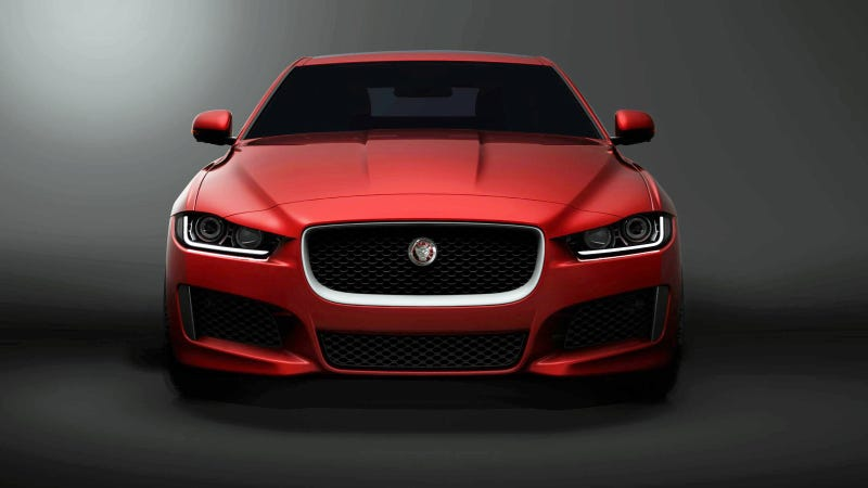 Illustration for article titled The Jaguar XE Will Battle The 3-Series With Aluminum And New Engines