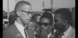 Bob Teague interviewing Malcolm X in the 1960s (NBC News)