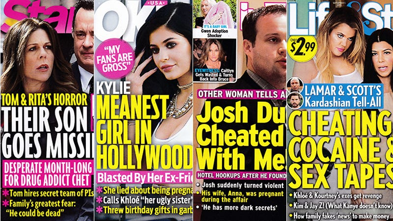 Illustration for article titled This Week In Tabloids: Kylie Threw Her Birthday Gifts in the Garbage