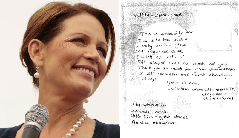 Illustration for article titled Michele Bachmann's Hand-Written Kibbutz Letter Is Kind Of Sweet