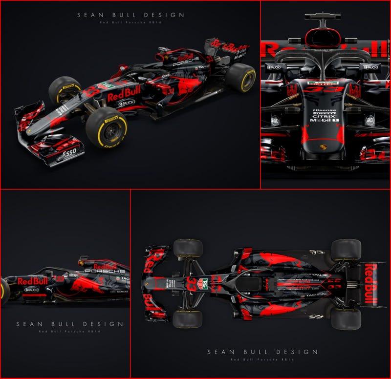 Illustration for article titled Red Bull Porsche?
