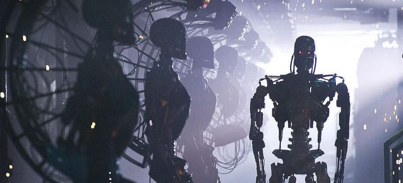 """Illustration for article titled """"No tenemos mucho tiempo para actuar"""": Elon Musk y otros expertos en IA advierten sobre el uso de armas autónomas"""
