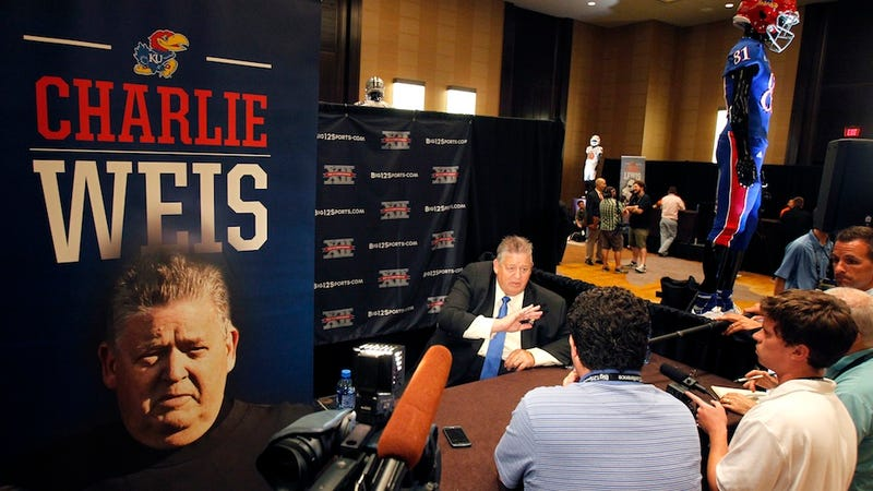 """Illustration for article titled Charlie Weis On KU:  """"Have You Looked At That Pile Of Crap Out There?"""""""