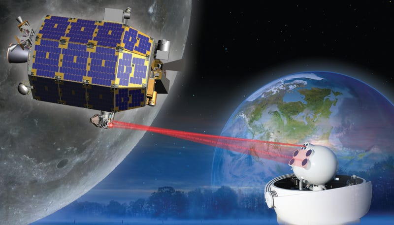 Illustration for article titled NASA is bringing broadband connectivity to the Moon – with lasers