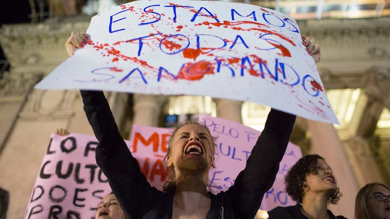 Illustration for article titled Protests in Brazil After the Gang Rape of a Teenage Girl Was Mocked on Twitter