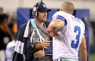 Illustration for article titled Romo's Injury Flips The Script, To The Secret Delight Of Cowboys Fans
