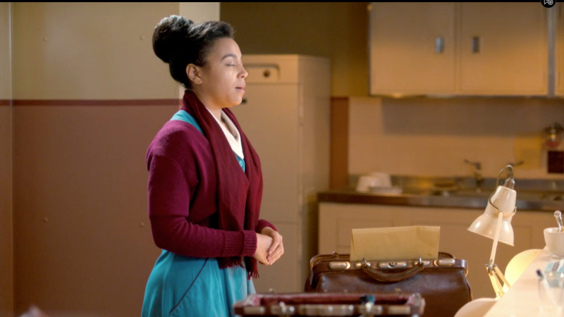 Nurse Lucille Anderson as portrayed by Leonie Elliott in Call the Midwife