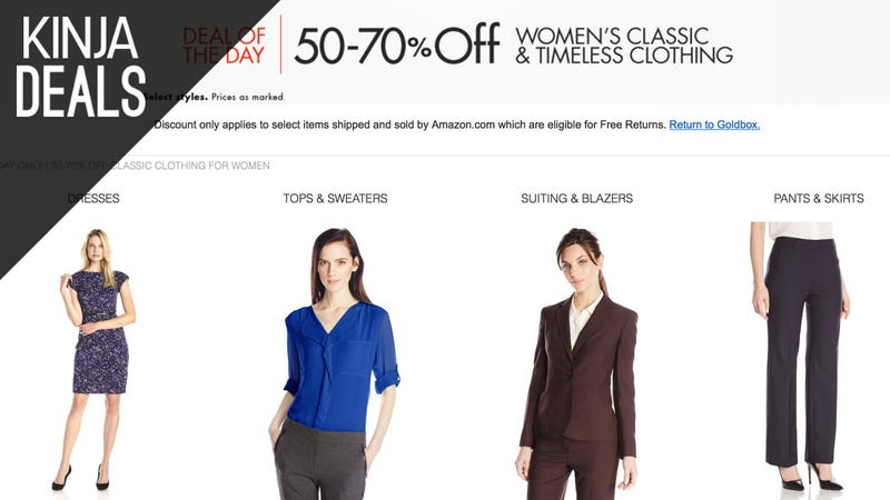 Illustration for article titled Save Up to 70% on Select Women's Clothing, Today Only