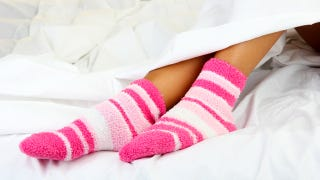 Illustration for article titled Wear Socks to Fall Asleep Easily