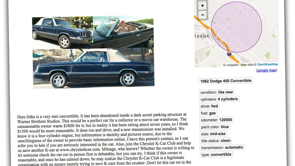 This Has To Be One Of The Strangest Craigslist Car Ads Ever