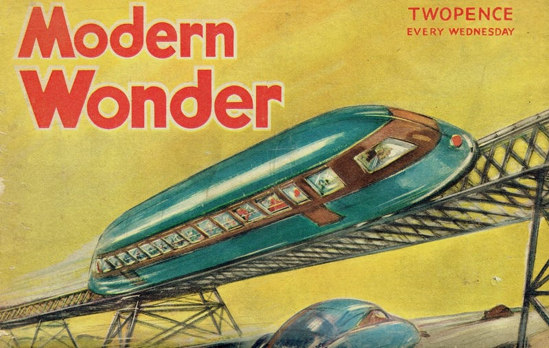 Cropped image of the cover of the March 5, 1938 issue of Modern Wonder