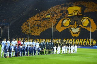 Illustration for article titled Dortmund's Tifo Can See Into Your Soul
