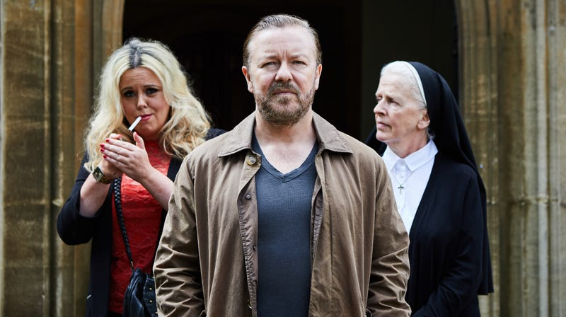 Illustration for article titled Ricky Gervais' dour new Netflix series belongs on the Hallmark Channel