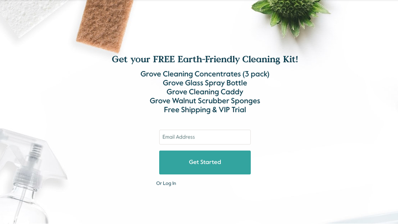 FREE (With $20 Purchase) Earth-Friendly Cleaning Kit | Grove | Automatically adds $20 of items to cart, but you can replace them with anything you want