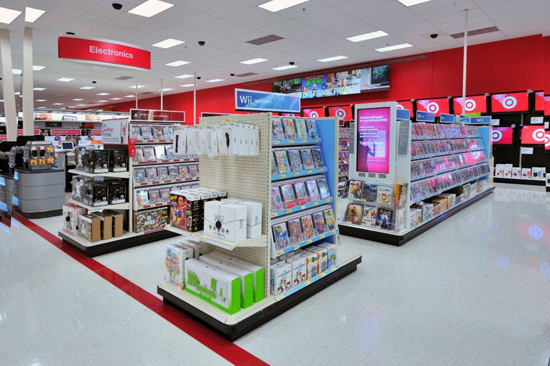 Illustration for article titled Target's Video Game Department Gets All Fancy