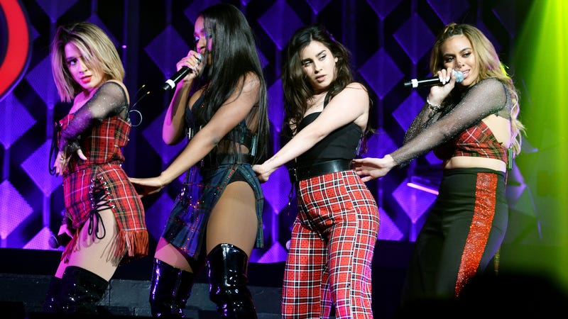 Ally Brooke, Normani Kordei, Lauren Jauregui and Dinah Jane of Fifth Harmony at Jingle Ball 2017
