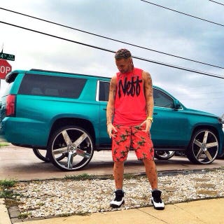 Illustration for article titled Celebrity update: RiFF RaFF's new whip and some ice bucket beef