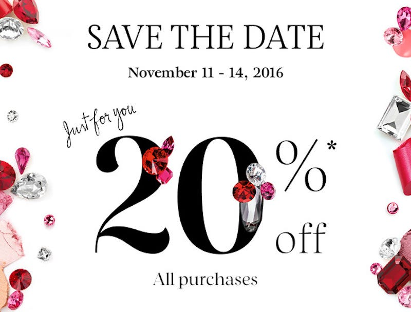 20% off all purchases with code 20VIB